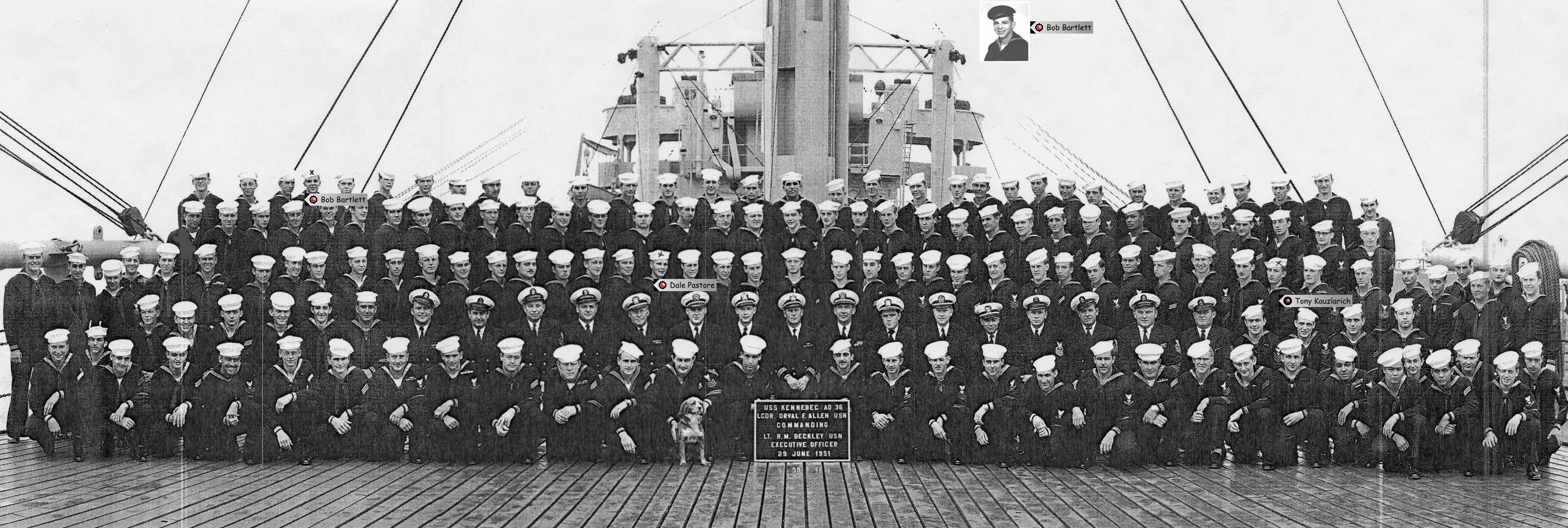 June 1951 with 3 shipmates
